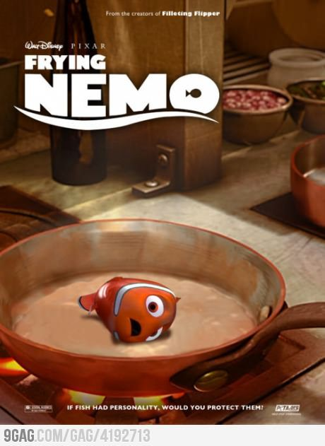 and the main course is...Nemo  Create great content like this one.  http://contentcreatorsecrets.com/freetraining/