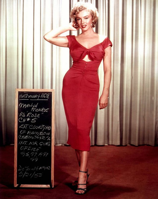 the original and most iconic wiggle dress wearer was Marilyn Monroe.
