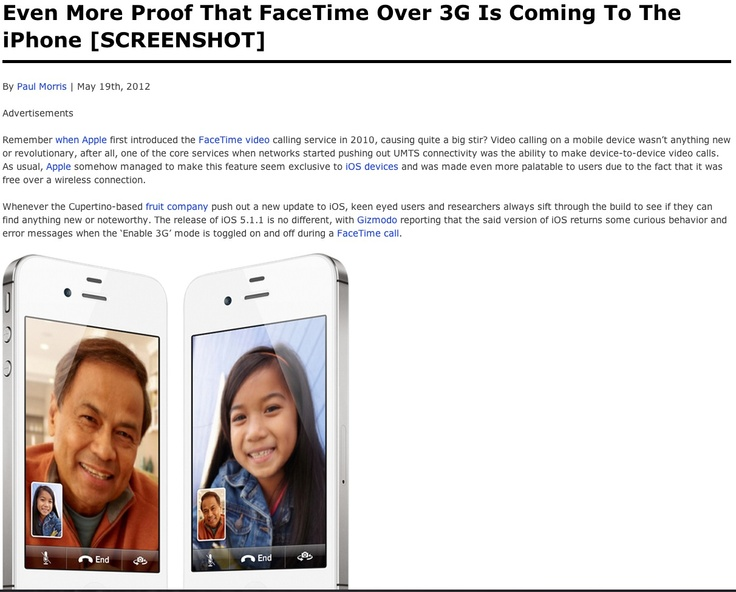 Even More Proof That FaceTime Over 3G Is Coming To The iPhone ➤ http:/