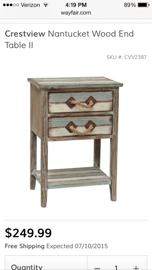Crestview Collection Nantucket Wood End Table II