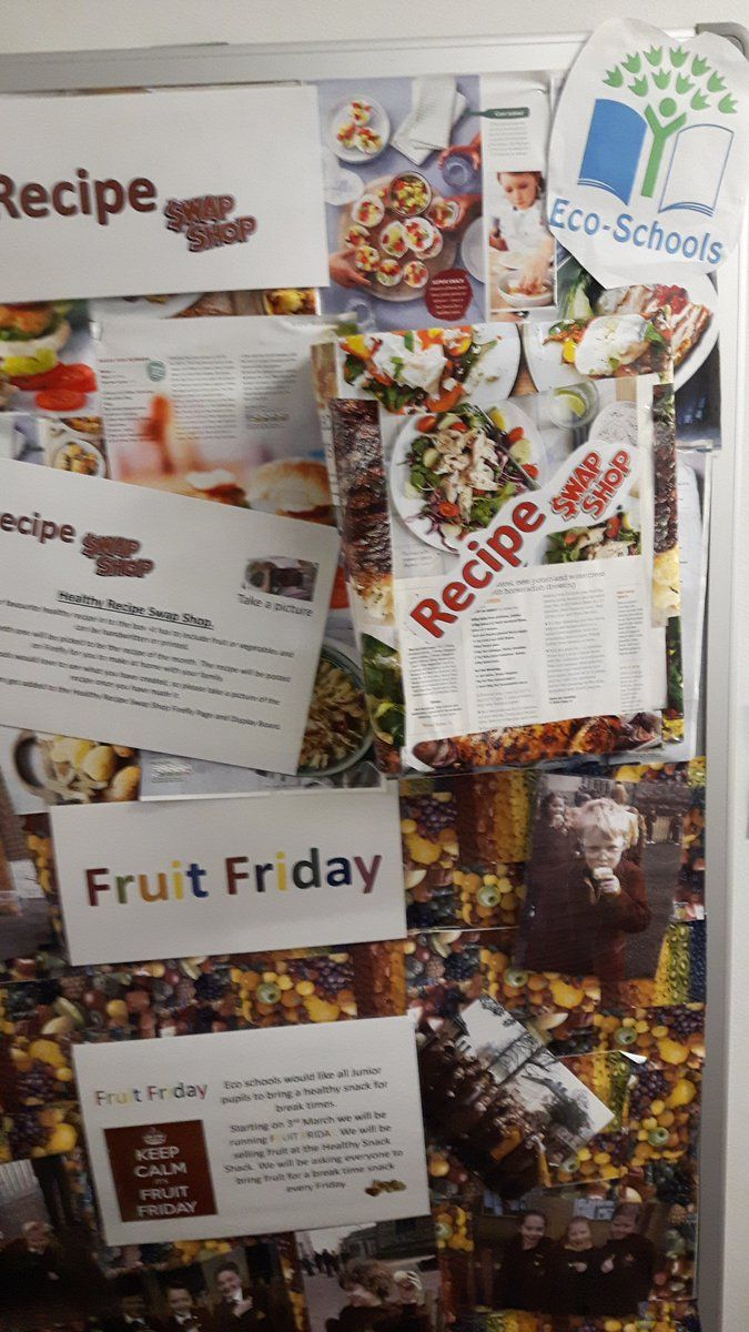 Cathedral school have a recipe swop shop board where - a great way to share ideas. #healthyliving #recipe