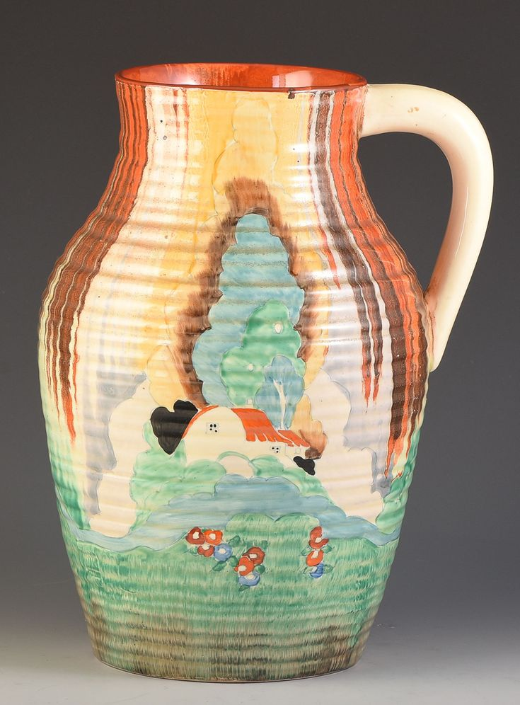 Clarice Cliff 'Forest Glen' full size Lotus Jug, c1935