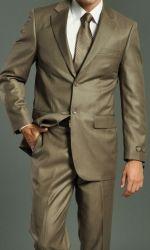 Men's Two Button Brown/Camel Suit