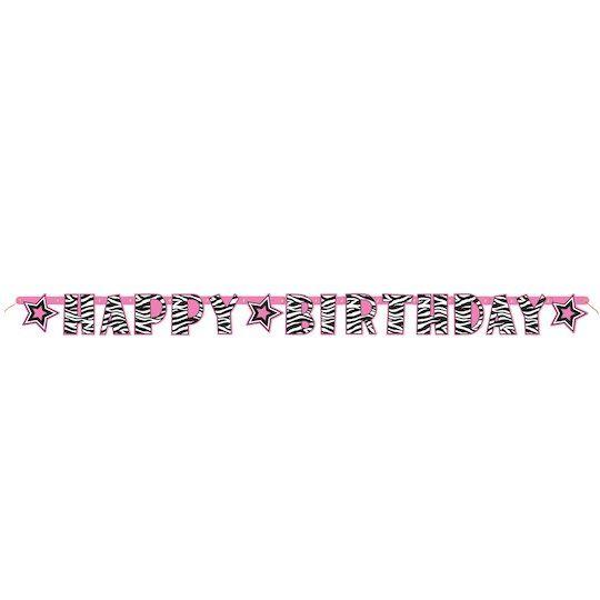Zebra Print Birthday Letter Banner