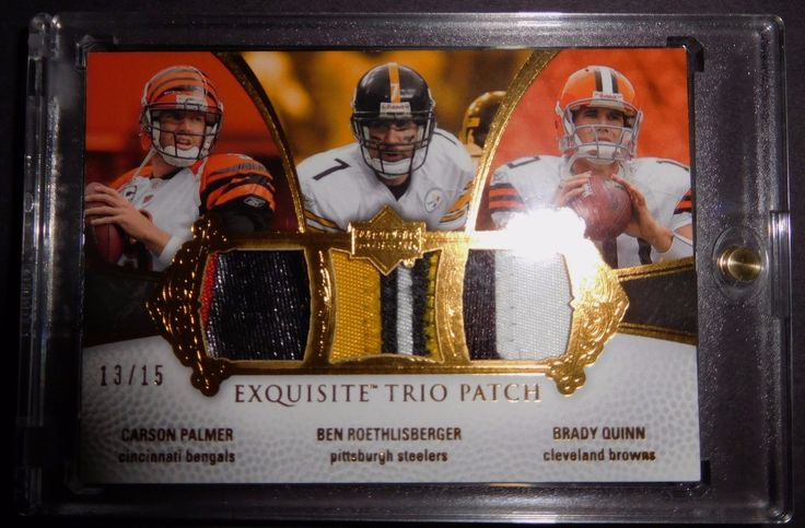 2007 EXQUISITE COLLECTION PATCH TRIOS /15 QUINN CARSON PALMER BEN ROETHLISBERGER