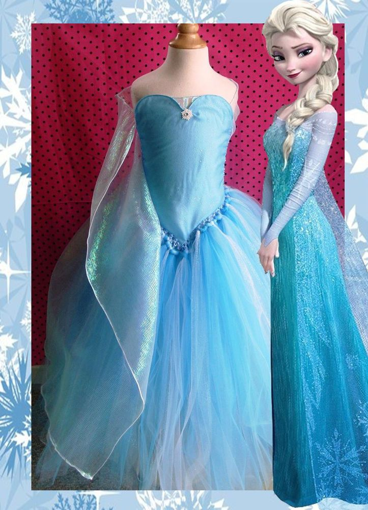 Elsa Tutu Dress Costume (Frozen, Birthday, Disney, Anna, olaf, princess )
