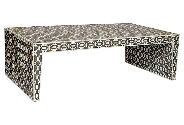Amazing Bone Inlay Coffee Table, Charcoal On OneKingsLane.com | INLAY FURNITURE /  SHELL U0026 BONE | Pinterest | Kings Lane, Tables And Living Rooms