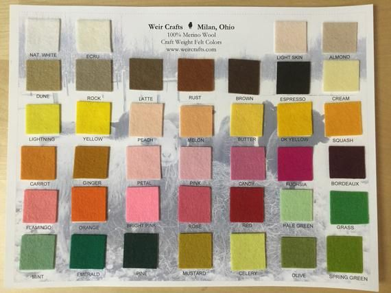 100 Wool Felt Three 8 X12 Sheets Type In Your Choices At Checkout Pure Merino Wool In 2020 Wool Felt Wool Felt