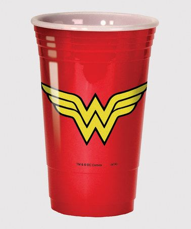 Loving this Wonder Woman Party Cup on #zulily! #zulilyfinds