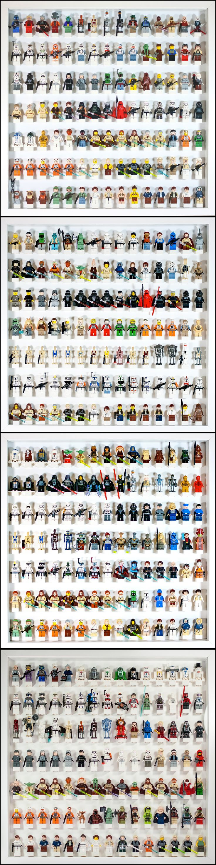 LEGO Star Wars Minifig display 1-4 <<< it's like every character in the Star Wars universe exists in Lego form.