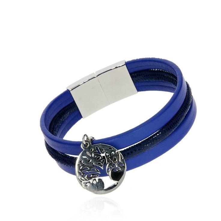 BRA 0034d - Niebieska - Aleksandra Strippentow Biżuteria Handmade