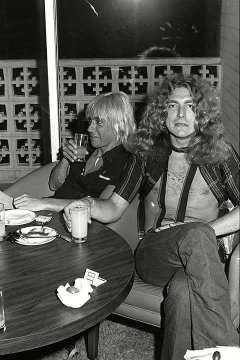Robert Plant with Iggy Pop