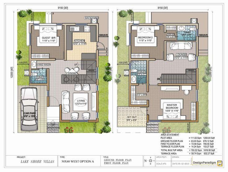 Image Result For Maisonette On Narrow Plot 20x40 House Plans Model House Plan West Facing House