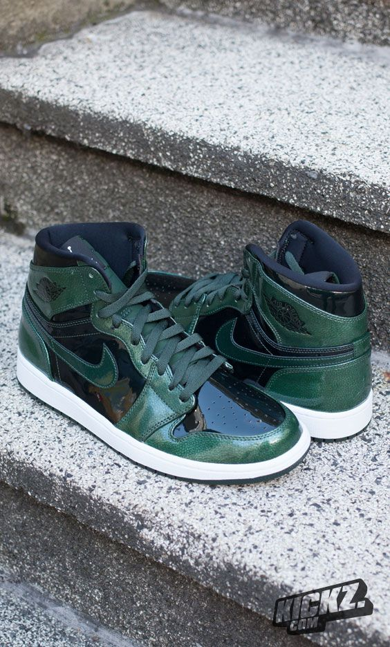 Luck of the AJ1  Check out the all green Air Jordan 1 Retro High and let 'em tempt you