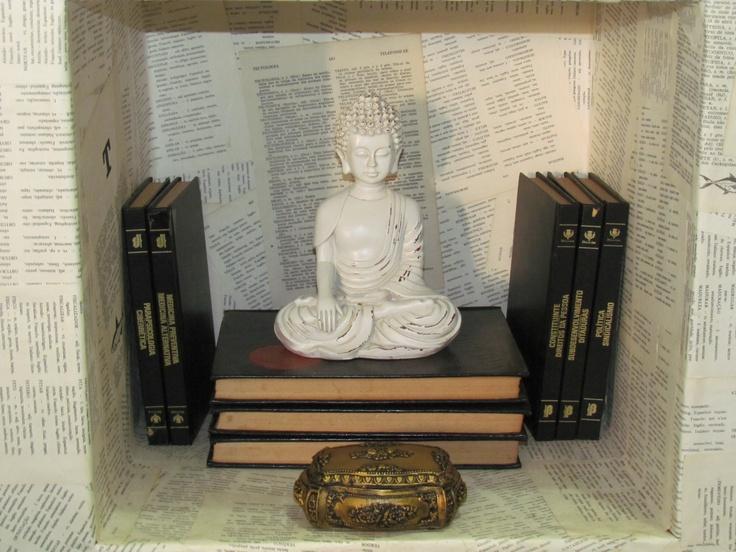 Buda e porta Joias medio na decor
