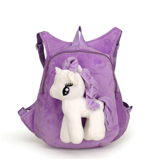 Симпатичные мягкие мультфильм детский сад детей плюшевый рюкзак пони плюшевые игрушки Дошкольные Детские сумка подарок для детей От 1 до 5 лет 1 шт.