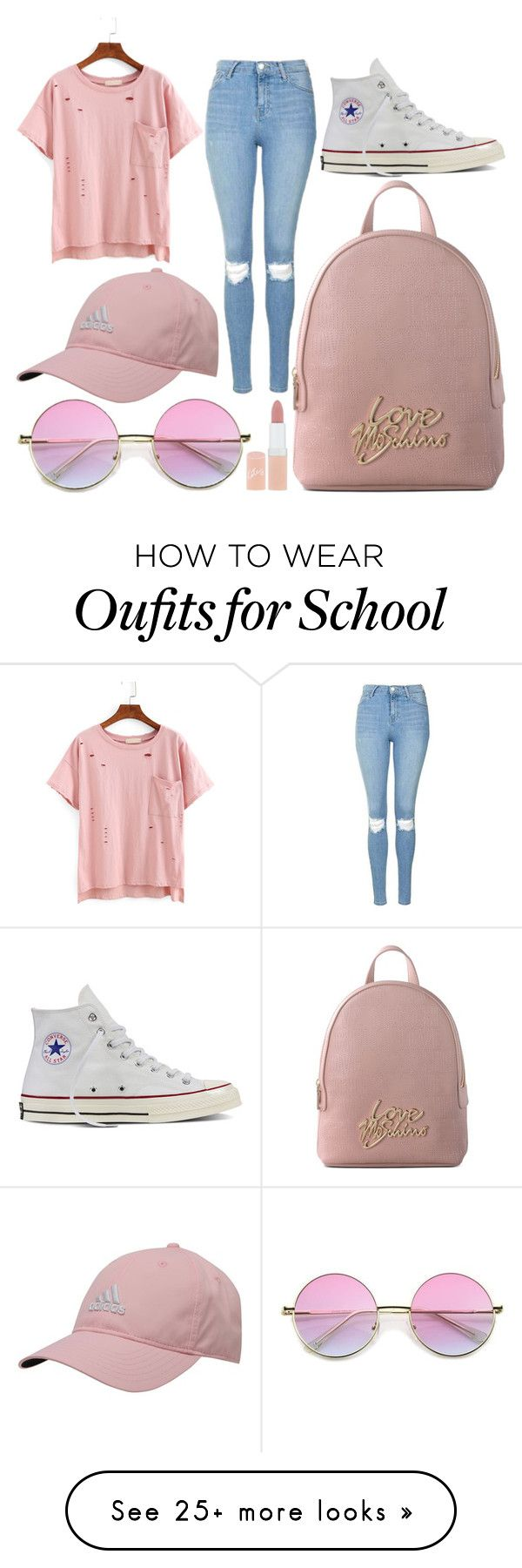 """""""School Day"""" by susanna-trad on Polyvore featuring Topshop, Converse, Love…"""