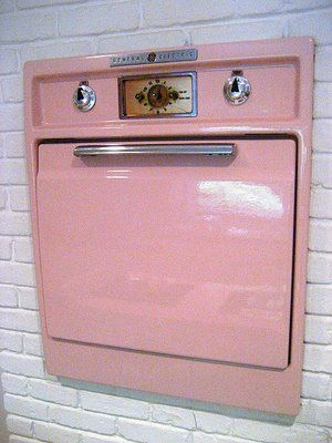 1950's pink oven!