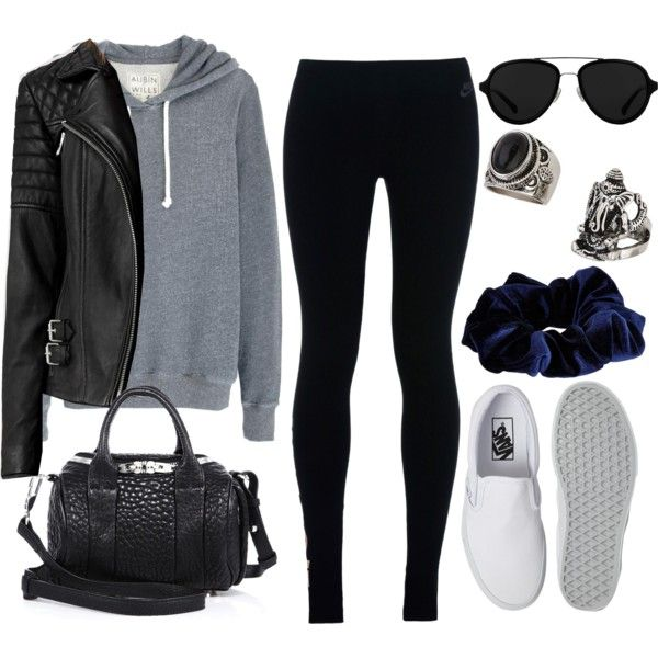 A fashion look from January 2016 featuring Aubin & Wills hoodies, AllSaints jackets and NIKE leggings. Browse and shop related looks.