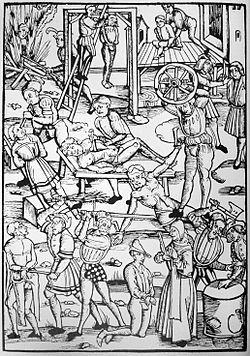 The peak of the witch hunt was during the period of the European wars of religion, peaking between about 1580 and 1630. The witch hunts declined in the early 18th century.