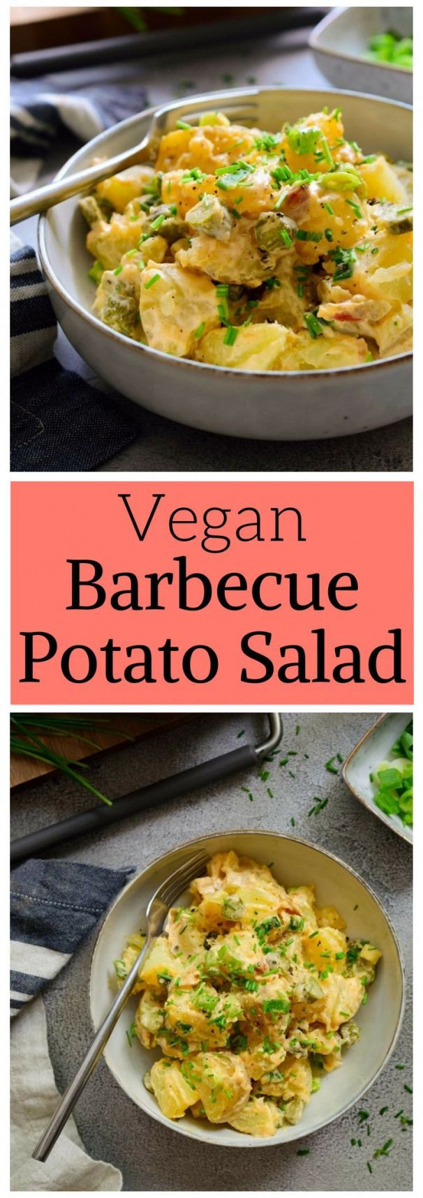 Meet your new favourite vegan potato salad recipe! The dressing is smoky sweet a…