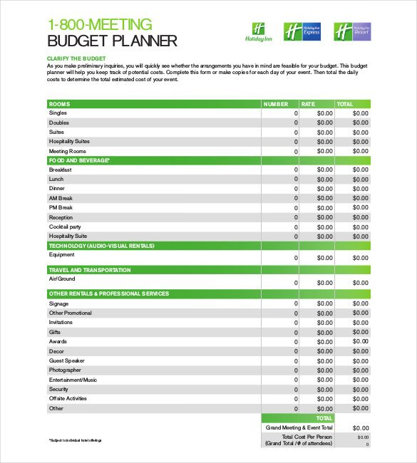 10 Budget Planner Templates Word Excel Pdf Templates Www
