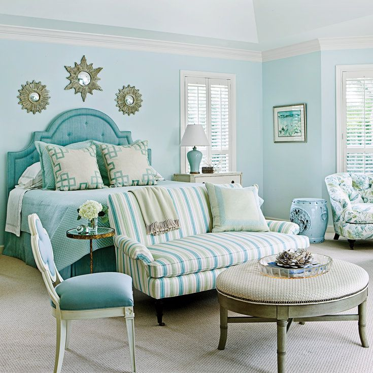 Say Yes to Sea Glass - Ideas for Blue Bedrooms - Coastal Living