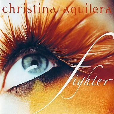 Christina Aguilera on the cover of the single Fighter