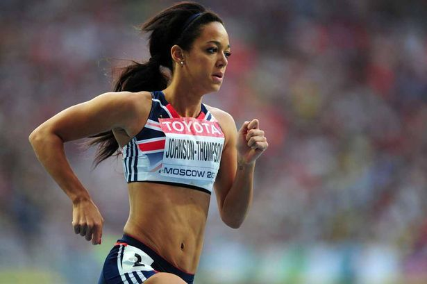"Video: London 2012 Golden Girl Jessica Ennis heaps praise on Liverpool's Katarina Johnson-Thompson ~ Liverpool Echo 13 Sep 2013 ~ Heptathlon gold medallist proud of up-and-coming Team GB star ~ ""Great Britain's Katarina Johnson-Thompson competing in the Heptathlon 800metres during day four of the 2013 IAAF World Athletics Championships at the Luzhniki Stadium in Moscow, Russia"" ~ #itsliverpool ~"