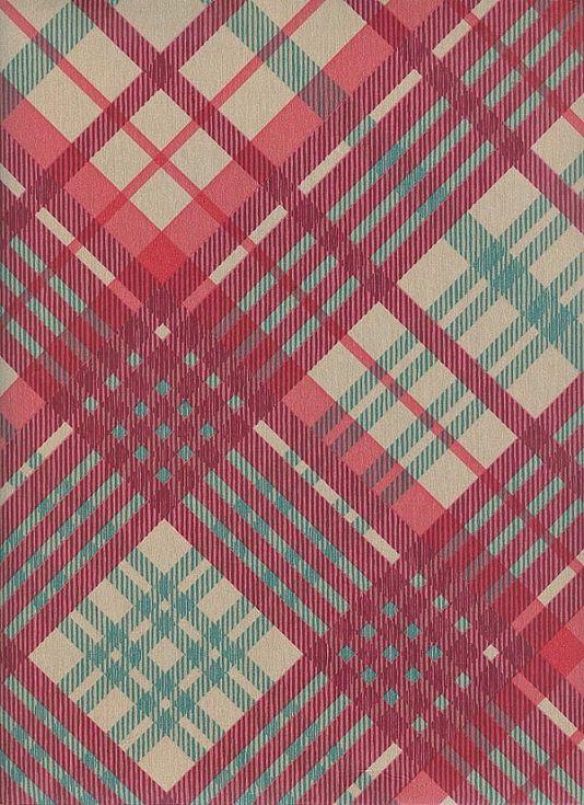 Tartan Wallpaper Vivienne Westwood designed tartan wallpaper in taupe green and red