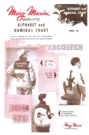 mary maxim 481, reproduced!! alphabet and numeral chart graph style