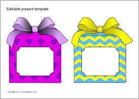 Editable present/gift templates (SB6469) - SparkleBox
