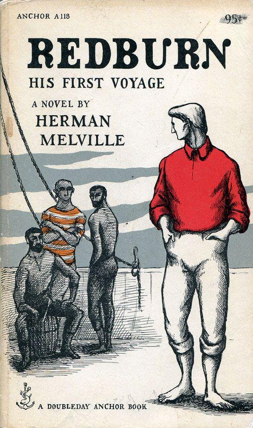 'Redburn: His First Voyage' by Herman Melville (Doubleday, 1957) Edward Gorey Illustration.