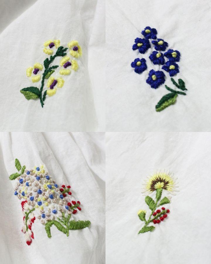 フェザーカディ小花刺繍ブラウス