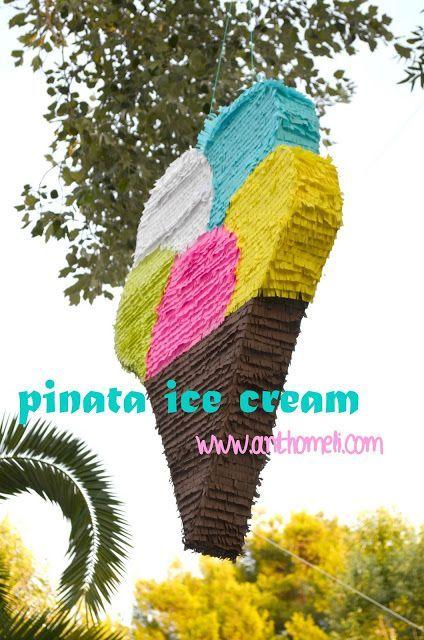 πινιάτα παγωτό, pinata icecream Πινιάτες οι αγαπημένες! (updated!) - Anthomeli