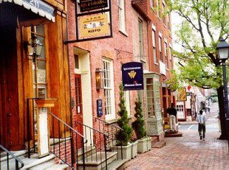 old town alexandria, va is absolutely breathtaking. i, fortunately, get to visit here almost every year. the history is overwhelming. one piece of advise, however, cobblestone, vodka, and heels don't mesh well.