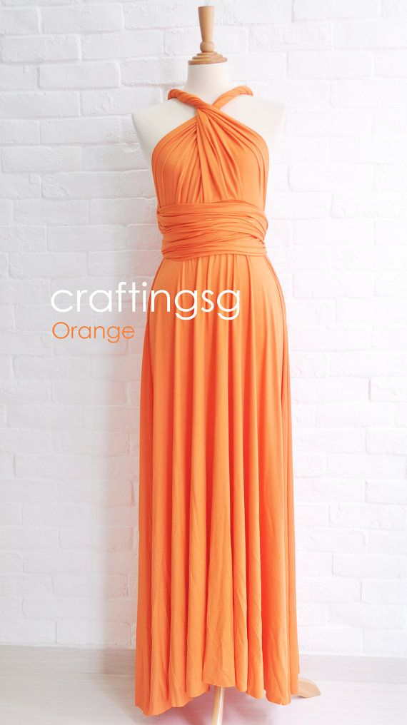 Bridesmaid Dress Infinity Dress Orange Floor Length by craftingsg, $50.00 ----OHHHH MAID OF HONOR...This is it!