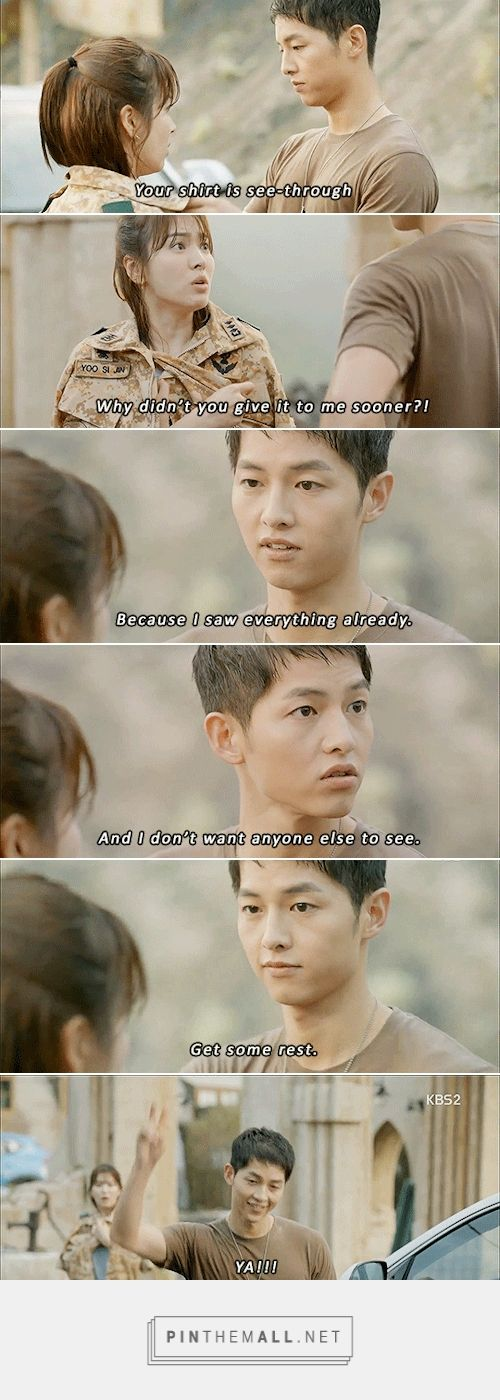 Descendants of the Sun My favorite scene! Made me laugh. Apart from the playing with the walkies-talkies.