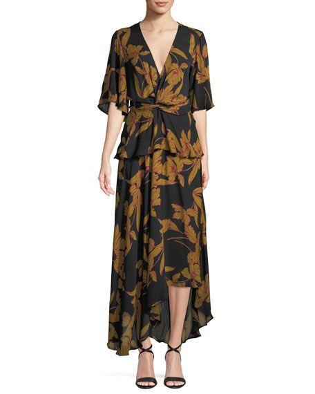 fb1f2d32e55f3 Avi Floral-Print Silk Maxi Dress | EP Buy Now | Pinterest | Dresses ...
