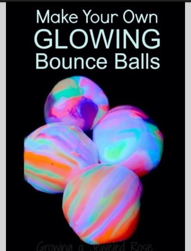 How To Make Your Own Glow-in-the-Dark Bouncy Balls