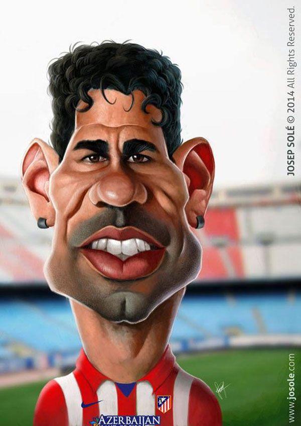 Caricatura de Diego Costa
