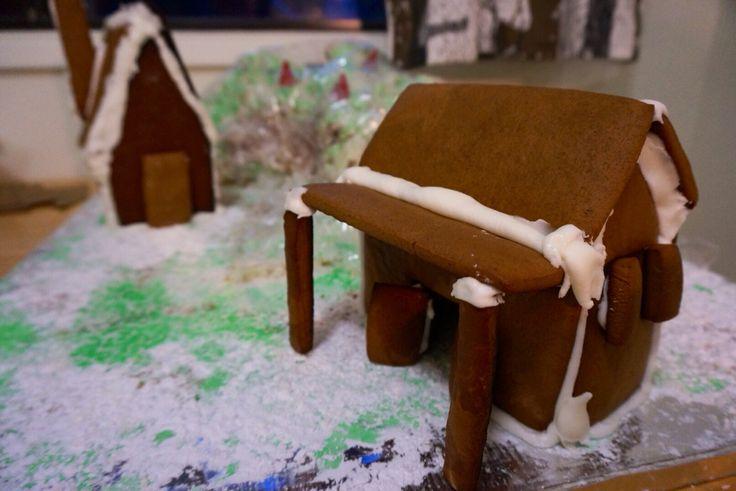 Bare Gingerbread House. Pre-decorating. @shanschlotts