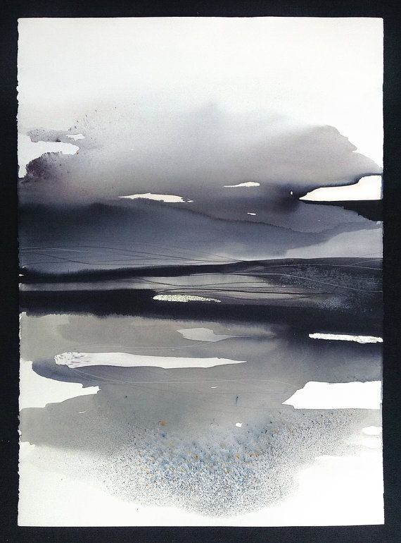 Contemporary Watercolour, Abstract Landscape - Original Painting.
