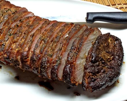 I love pulled pork, but a pork loin smoked just to the point of being done is awesome, and perfect for slicing up for sandwiches! With only a light rub, and still tender and juicy, this makes a gre…