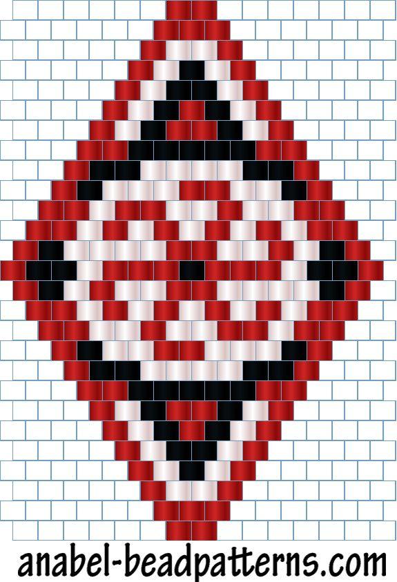 Схемы сережек Славянские мотивы - мозаичное / кирпичное плетение - free peyote patters - earrings