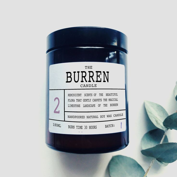 The Burren - Scented Soy Wax Candle - Made In Ireland by TheIrishChandler on Etsy