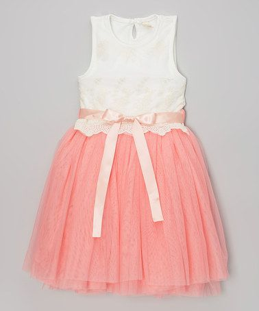 http://www.zulily.com/invite/vhanson979 Pink & White Party Dress - Toddler & Girls #zulily #zulilyfinds