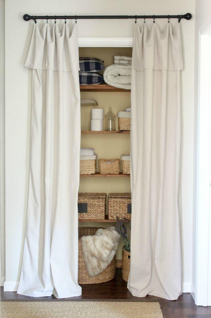 Closet Door Alternative U2013 Easy Drop Cloth Curtains