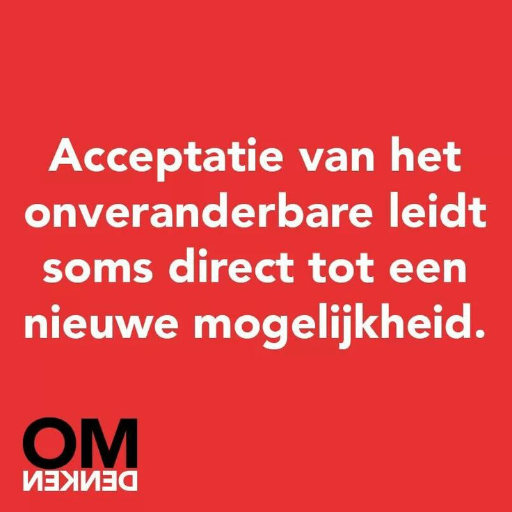 Acceptatie van het onveranderbare....