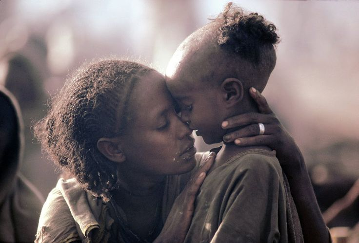 mother and child. ethiopia 1984